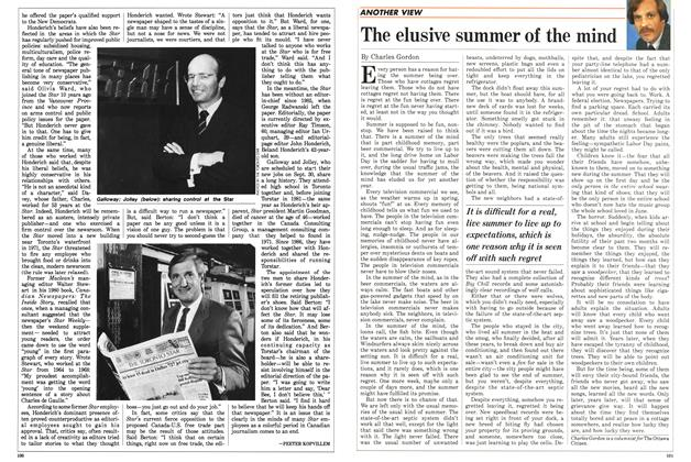 Article Preview: The elusive summer of the mind, September 1988 | Maclean's