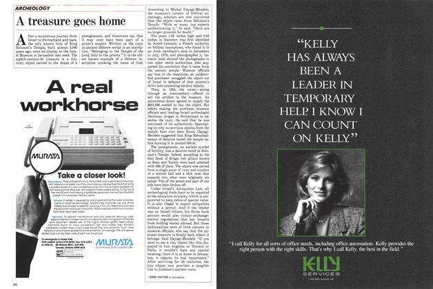 Article Preview: A treasure goes home, September 1988 | Maclean's