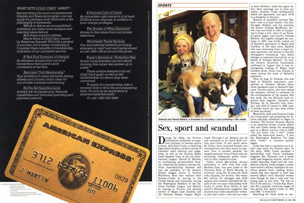 Article Preview: Sex, sport and scandal, September 1988 | Maclean's