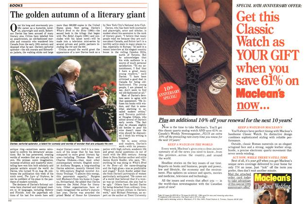 Article Preview: The golden autumn of a literary giant, September 1988 | Maclean's