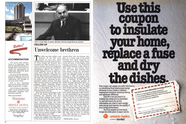 Article Preview: Unwelcome brethren, September 1988 | Maclean's