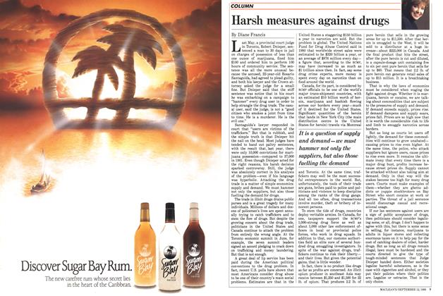 Article Preview: Harsh measures against drugs, September 1988 | Maclean's