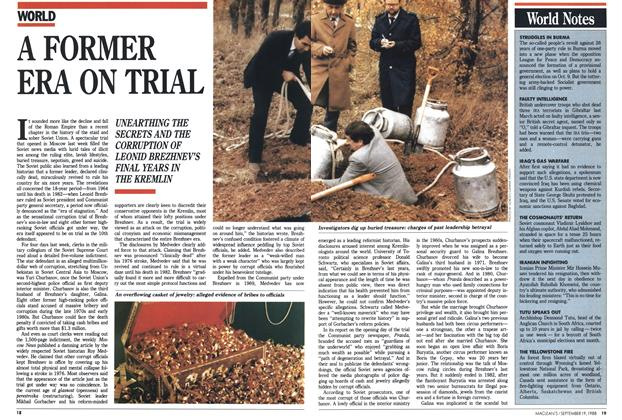 Article Preview: A FORMER ERA ON TRIAL, SEPTEMBER 19,1988 1988 | Maclean's