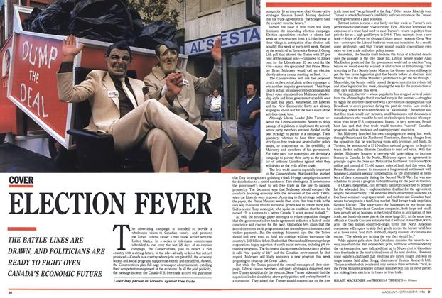 Article Preview: ELECTION FEVER, SEPTEMBER 19,1988 1988 | Maclean's