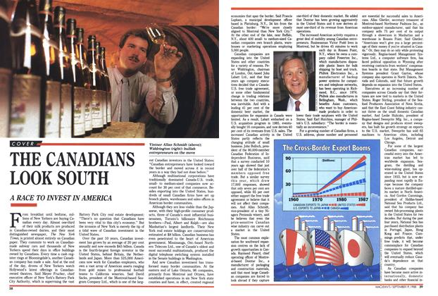 Article Preview: THE CANADIANS LOOK SOUTH, SEPTEMBER 19,1988 1988 | Maclean's