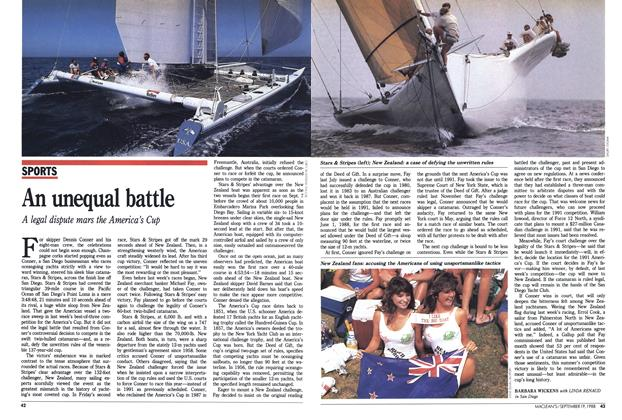 Article Preview: An unequal battle, SEPTEMBER 19,1988 1988 | Maclean's