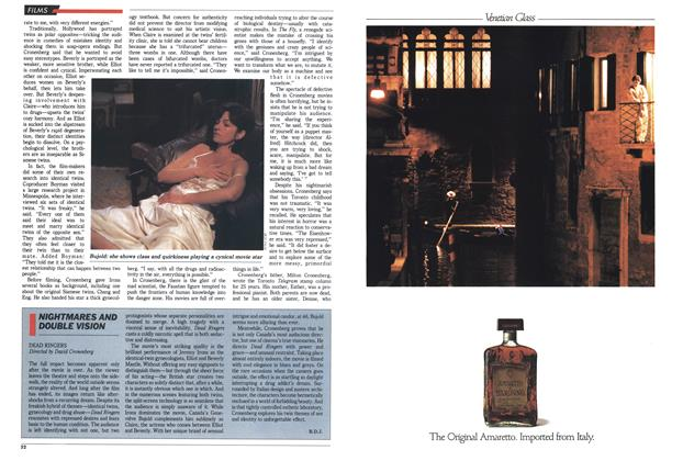 Article Preview: NIGHTMARES AND DOUBLE VISION, SEPTEMBER 19,1988 1988 | Maclean's