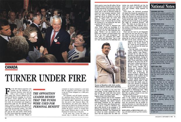 Article Preview: TURNER UNDER FIRE, SEPTEMBER 19,1988 1988 | Maclean's