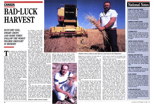Article Preview: BAD-LUCK HARVEST, September 1988 | Maclean's