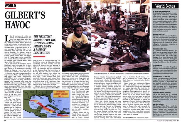 Article Preview: GILBERT'S HAVOC, September 1988 | Maclean's