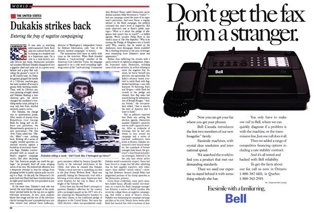 Article Preview: Dukakis strikes back, September 1988 | Maclean's
