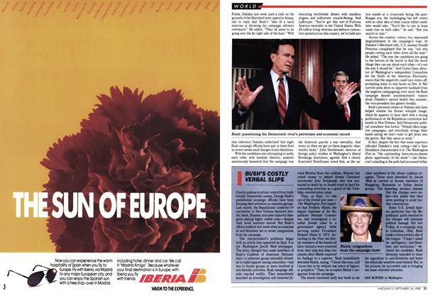 Article Preview: BUSH'S COSTLY VERBAL SLIPS, September 1988 | Maclean's