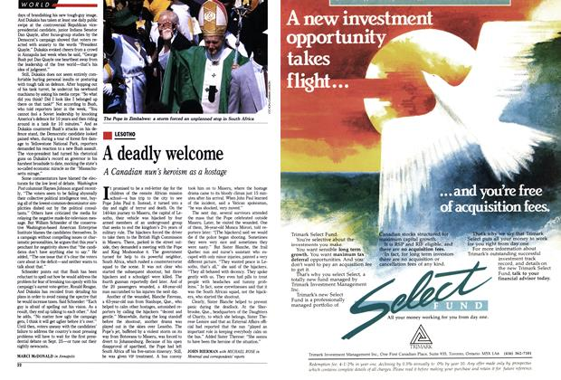 Article Preview: A deadly welcome, September 1988 | Maclean's