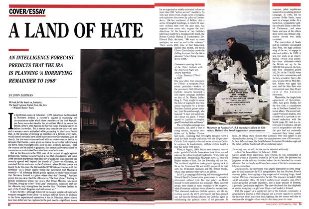 Article Preview: A LAND OF HATE, September 1988 | Maclean's