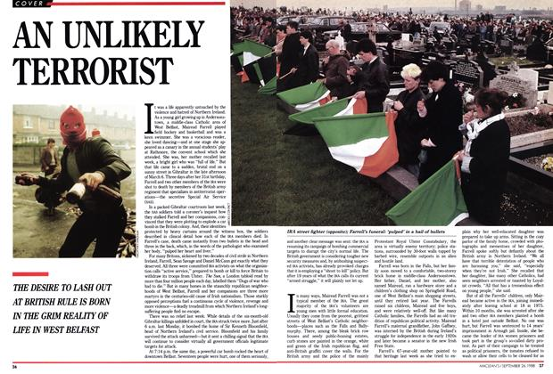 Article Preview: AN UNLIKELY TERRORIST, September 1988 | Maclean's