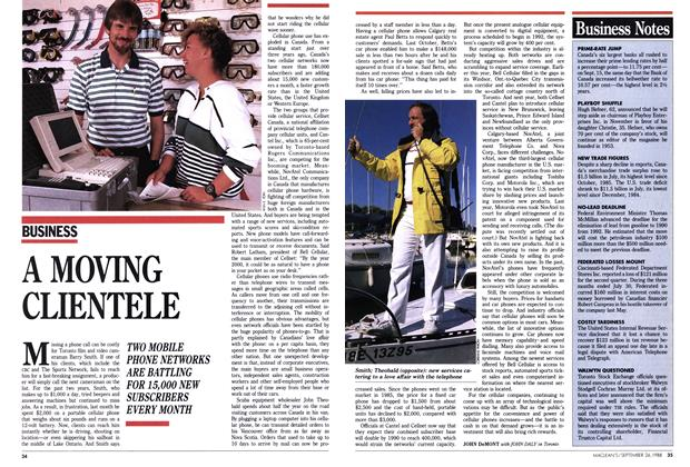 Article Preview: A MOVING CLIENTELE, September 1988 | Maclean's