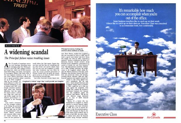 Article Preview: A widening scandal, September 1988 | Maclean's
