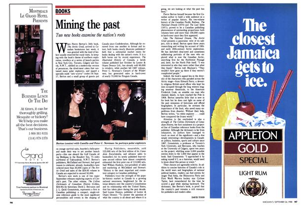Article Preview: Mining the past, September 1988 | Maclean's