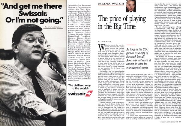 Article Preview: The price of playing in the Big Time, September 1988 | Maclean's