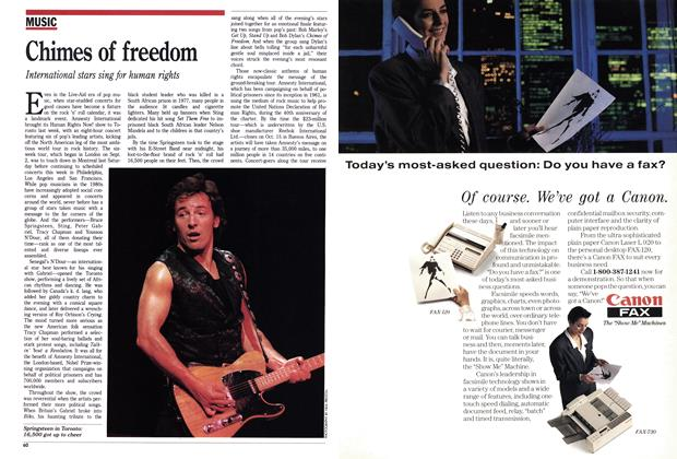Article Preview: Chimes of freedom, September 1988 | Maclean's