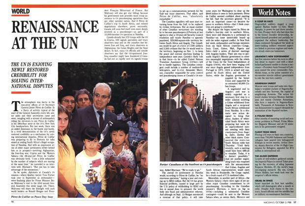 Article Preview: RENAISSANCE AT THE UN, October 1988 | Maclean's
