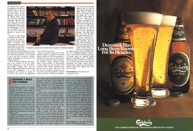 Article Preview: CARVING A ROLE FOR CANADA, October 1988   Maclean's