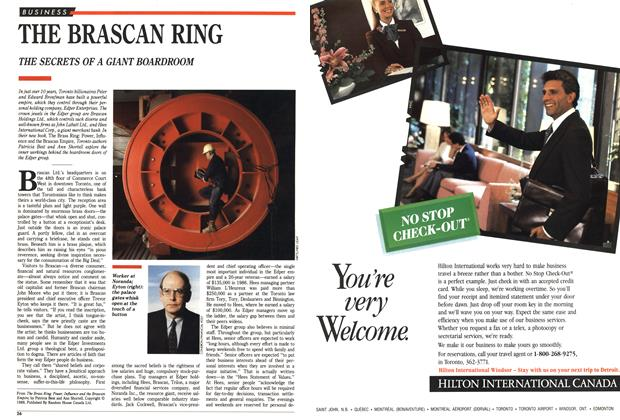 Article Preview: THE BRASCAN RING, October 1988 | Maclean's