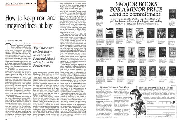 Article Preview: How to keep real and imagined foes at bay, October 1988 | Maclean's