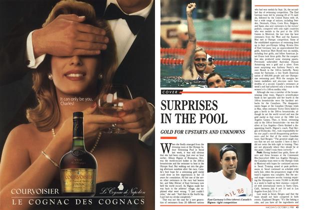 Article Preview: SURPRISES IN THE POOL, October 1988 | Maclean's