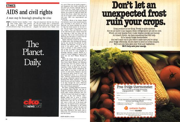 Article Preview: AIDS and civil rights, October 1988 | Maclean's