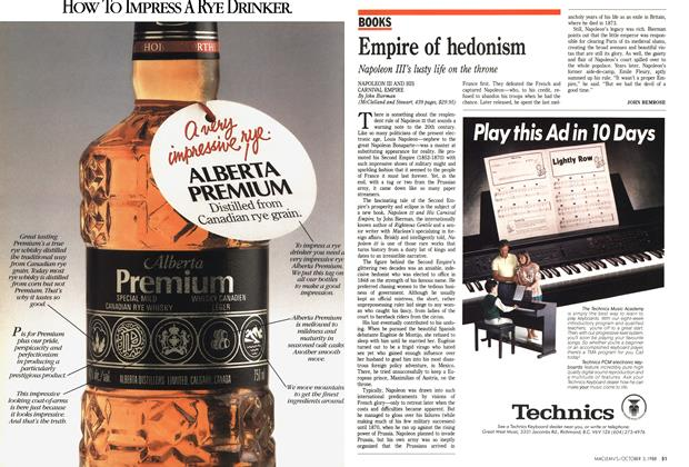 Article Preview: Empire of hedonism, October 1988 | Maclean's