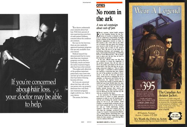 Article Preview: No room in the ark, October 1988 | Maclean's