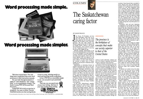 Article Preview: The Saskatchewan caring factor, October 1988 | Maclean's