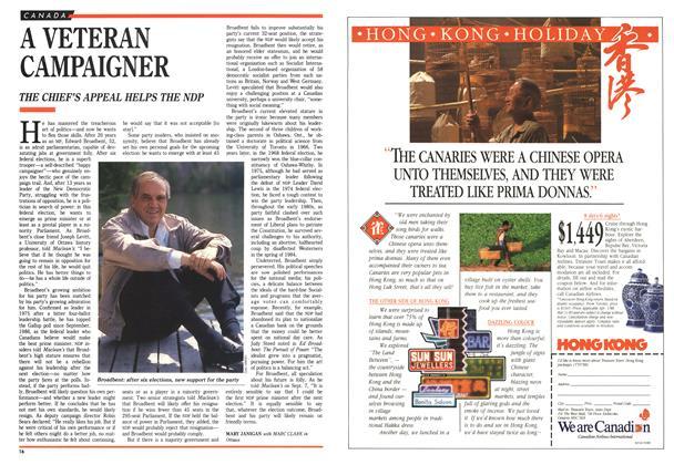 Article Preview: A VETERAN CAMPAIGNER, October 1988 | Maclean's