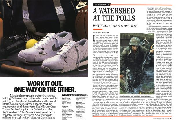 Article Preview: A WATERSHED AT THE POLLS, October 1988 | Maclean's