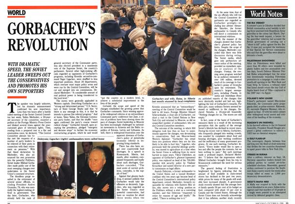 Article Preview: GORBACHEV'S REVOLUTION, October 1988 | Maclean's
