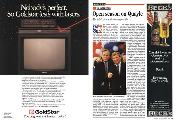 Article Preview: Open season on Quayle, October 1988 | Maclean's