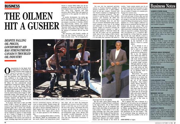 Article Preview: THE OILMEN HIT A GUSHER, October 1988 | Maclean's