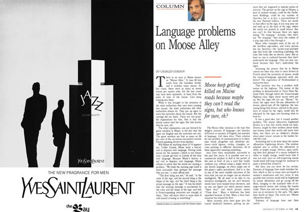 Article Preview: Language problems on Moose Alley, October 1988 | Maclean's