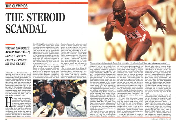 Article Preview: THE STEROID SCANDAL, October 1988 | Maclean's