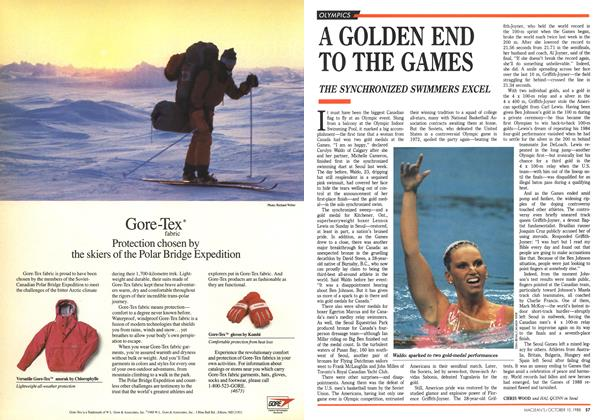 Article Preview: A GOLDEN END TO THE GAMES, October 1988 | Maclean's