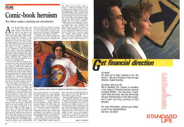 Article Preview: Comic-book heroism, October 1988 | Maclean's