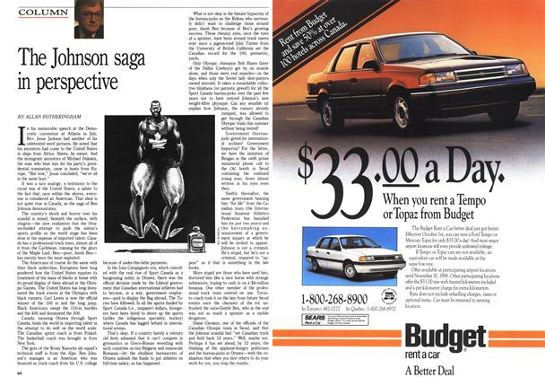 Article Preview: The Johnson saga in perspective, October 1988 | Maclean's
