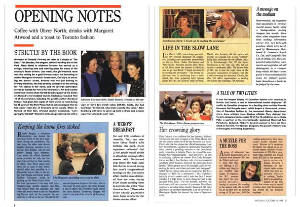 Article Preview: OPENING NOTES, October 1988 | Maclean's