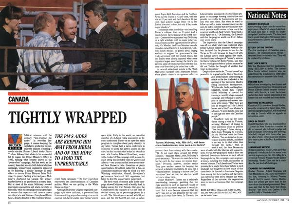 Article Preview: TIGHTLY WRAPPED, October 1988 | Maclean's
