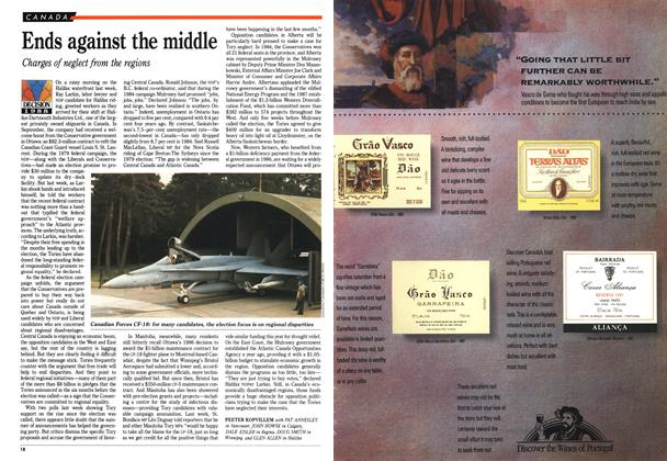 Article Preview: Ends against the middle, October 1988 | Maclean's