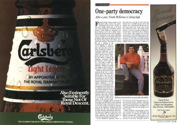 Article Preview: One-party democracy, October 1988 | Maclean's