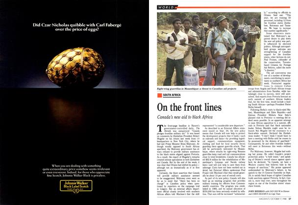 Article Preview: On the front lines, October 1988 | Maclean's
