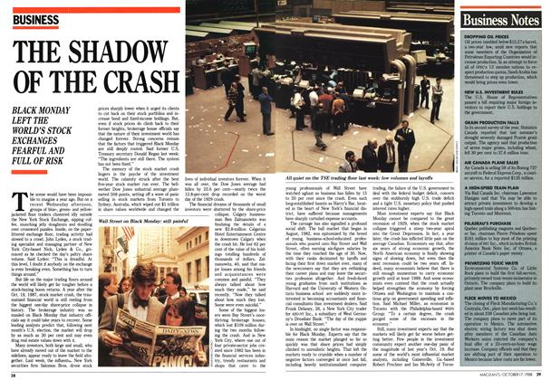 Article Preview: THE SHADOW OF THE CRASH, October 1988 | Maclean's