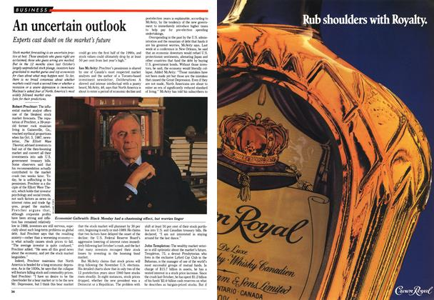 Article Preview: An uncertain outlook, October 1988 | Maclean's